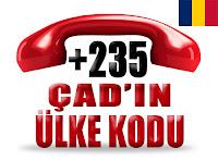 +235 Çad ülke telefon kodu