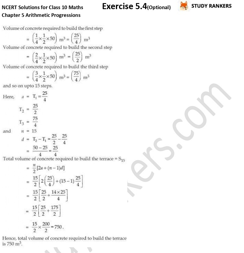 NCERT Solutions for Class 10 Maths Chapter 5 Arithmetic Progressions Exercise 5.4 Part 5