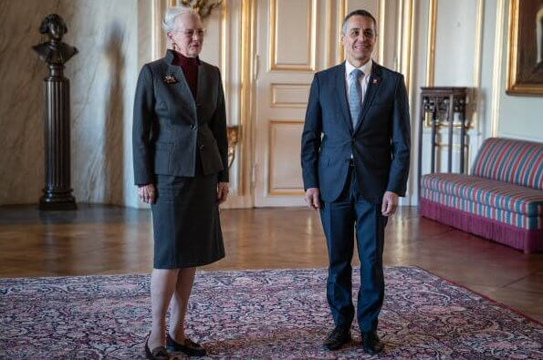 Queen Margrethe II of Denmark received Swiss Foreign Minister Ignazio Cassis