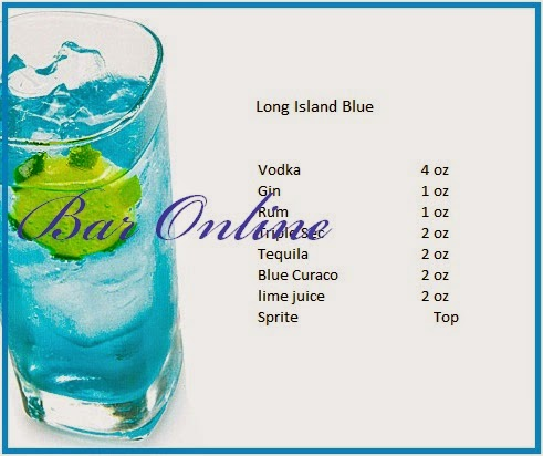 recipes and how to make a drink long island blue dishes