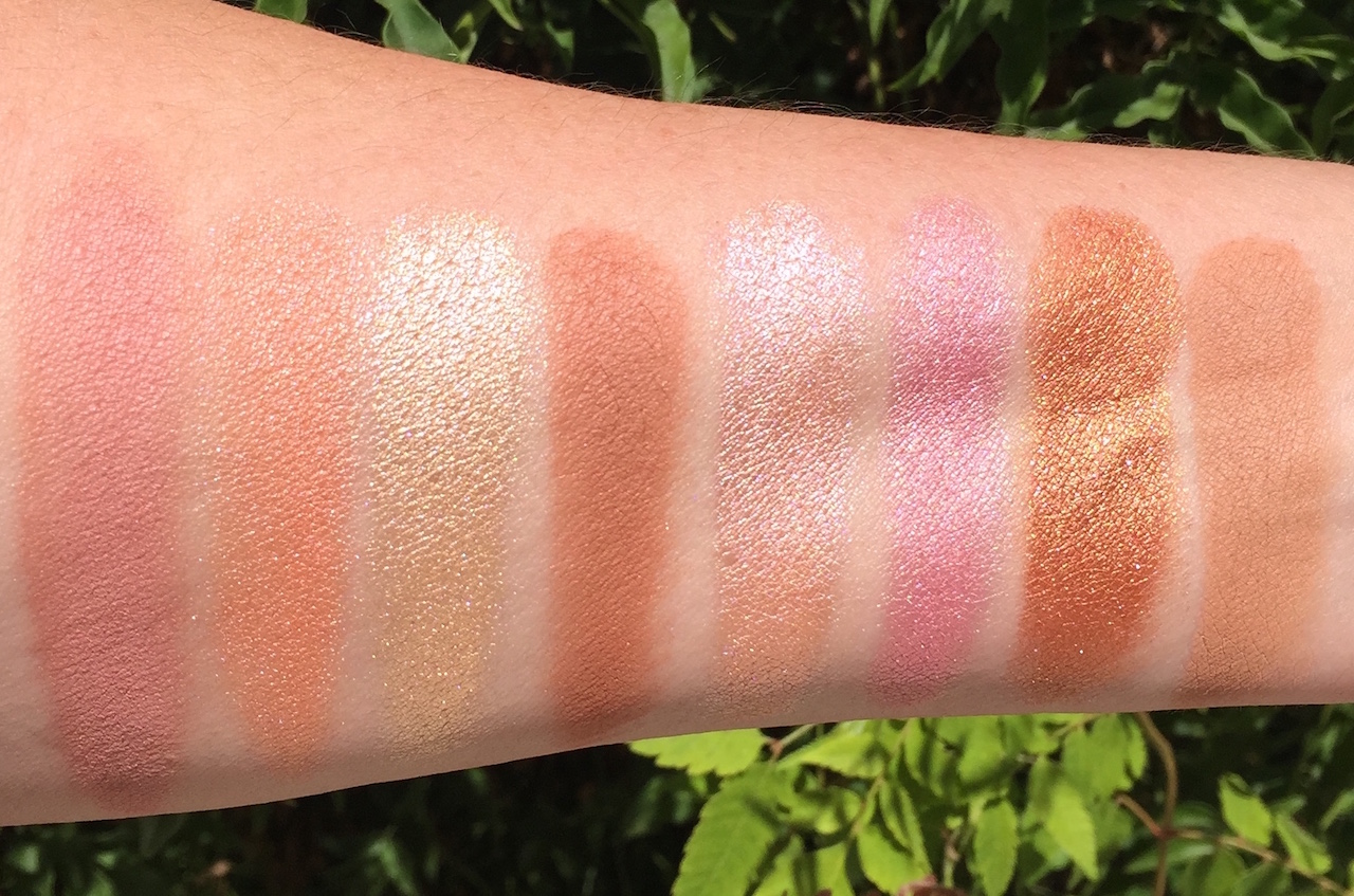 Makeup revolution usa golden sugar 2 rose gold ultra professional blush palette rose gold lipstick in chauffeur review and swatches