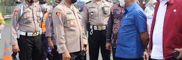 Kapolres Cilegon Sambut Kunjungan DPR RI Ke PosPam Merak