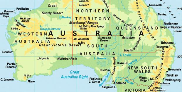 Letak dan Batas Wilayah Benua Australia