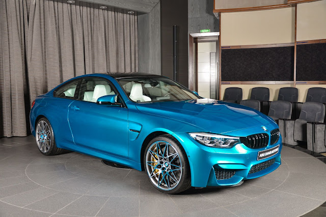 2017 BMW M4 Competition Pack in Atlantis Blue - #BMW #M4 #Competition #tuning