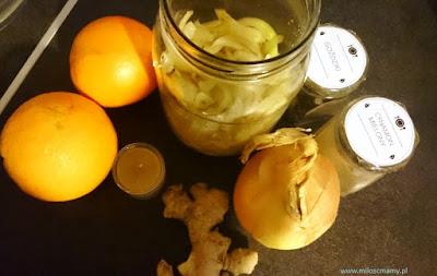 syrop z cebuli i czosnku i miodu