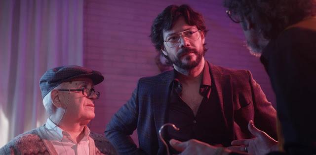 Álvaro Morte con Marianico el corto en 'El último show' que da el salto de Aragon Tv a Hbo España