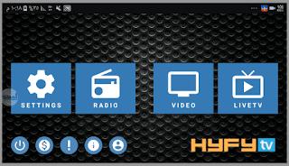 تحميل تطبيق HYFYTV APK لمشاهدة القنوات الرياضية و الافلام اخر اصدار