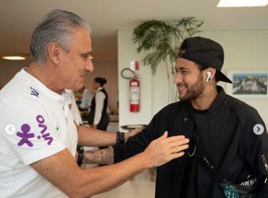 Neymar se apresenta à Seleção Brasileira para disputa da Copa América
