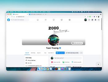 Tạo ảnh trang cá nhân facebook giao diện máy tính