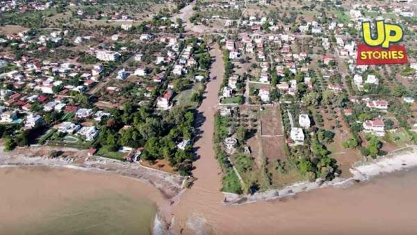 Drone κατέγραψε τις καταστροφές στην Κινέτα