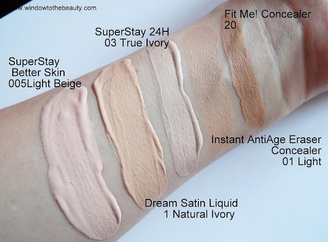 Podkład Maybelline SuperStay Better Skin swatche odcieni