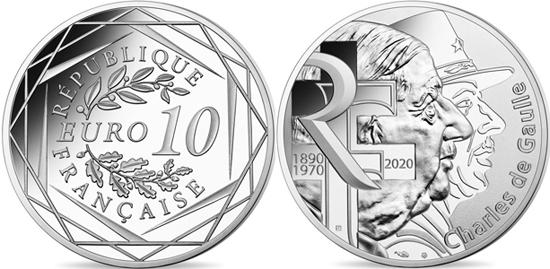 France 10 euro 2020 - Charles de Gaulle