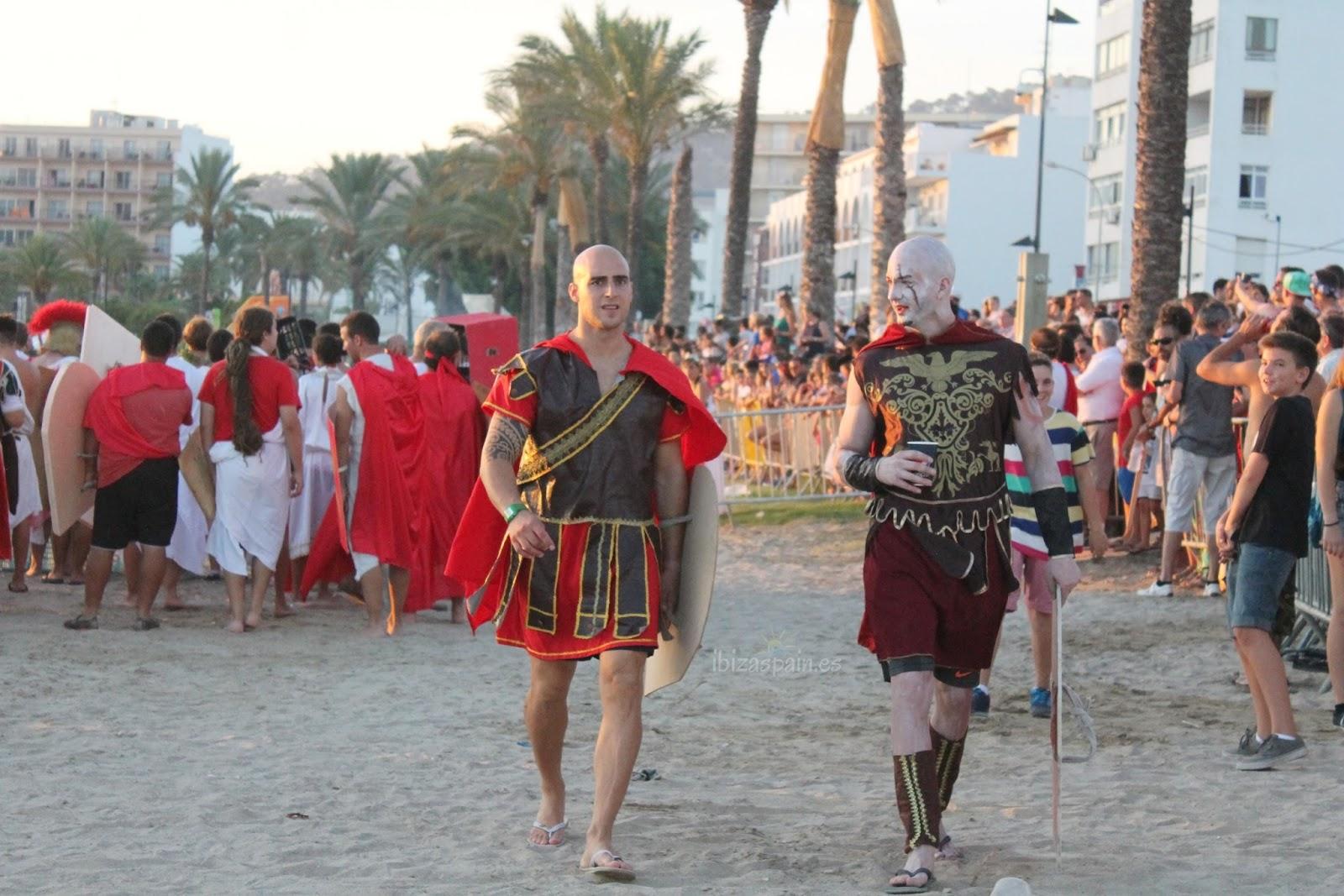 Batalla entre cartagineses y romanos