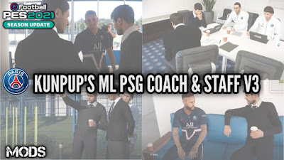 PES 2021 ML Coach & Staff PSG V3 by Kunpup