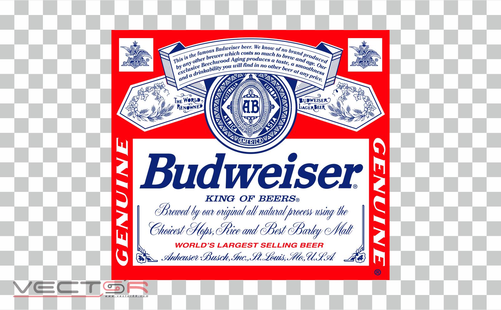 Budweiser (1987-1999) Label - Download .PNG (Portable Network Graphics) Transparent Images