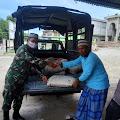 Kodim 0107/Aceh Selatan Sumbang Semen Untuk Pembangunan Masjid Al Falah Gampong Simpang Tiga
