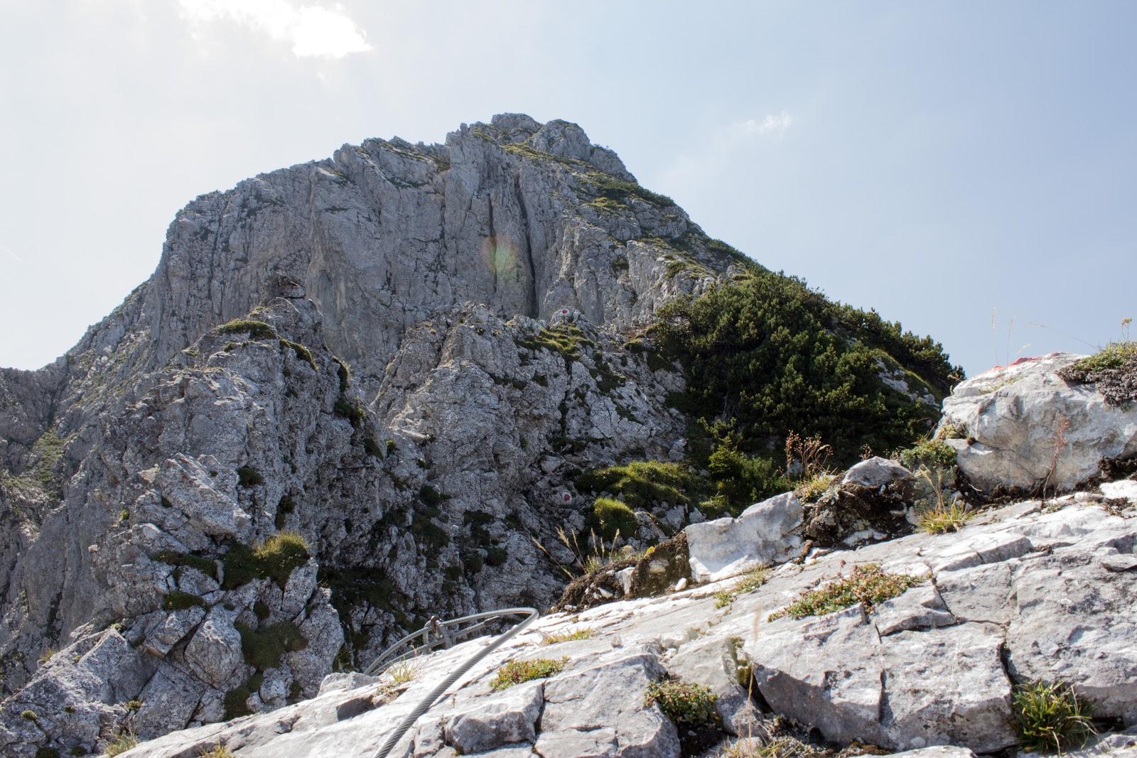 Von der Ardningeralmhütte über den Wildfrauensteig auf Frauenmauer, Bosruck und Kitzstein. - am Klettersteig zum Bosruck.