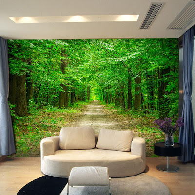 naturtapet skogsstig skogstapet trädstammar fototapet natur stig 3d fondtapet