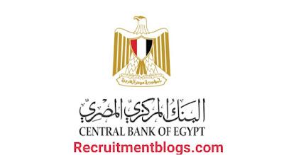 وظائف البنك المركزي المصري لعام ٢٠٢١ -Central Bank of Egypt