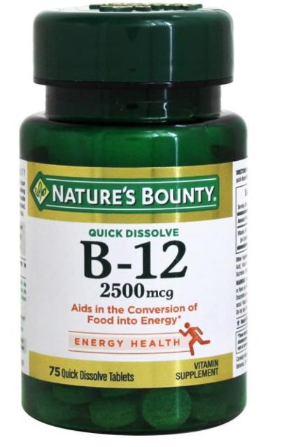 Nature'S Bounty - Vitamin B12 2500 Mcg. 75 Quick Dissolve Tablets