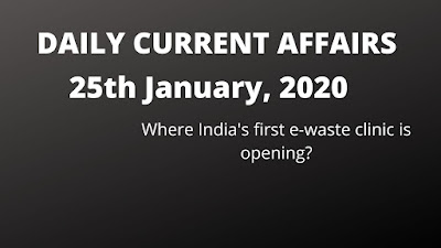 Daily Current Affairs of India 25th January in Hindi and English