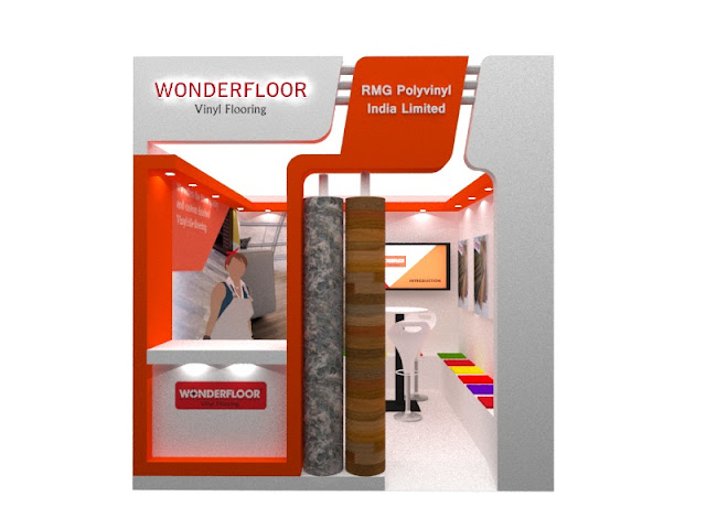 Booth Wonder floor at Mega Bazar Indobuildtech