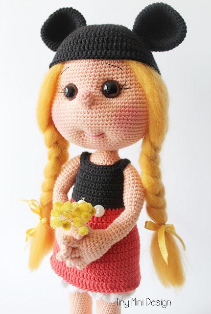 Mickey Mouse Kostümlü Daisy- Amigurumi Mickey Mouse Costume Daisy Doll