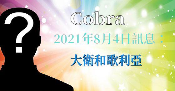 [揭密者][柯博拉Cobra] 2021年8月4日訊息:大衛和歌利亞