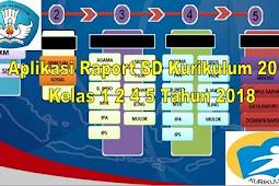 Aplikasi Raport SD Kurikulum 2013 Kelas 1 2 4 5 Tahun 2018