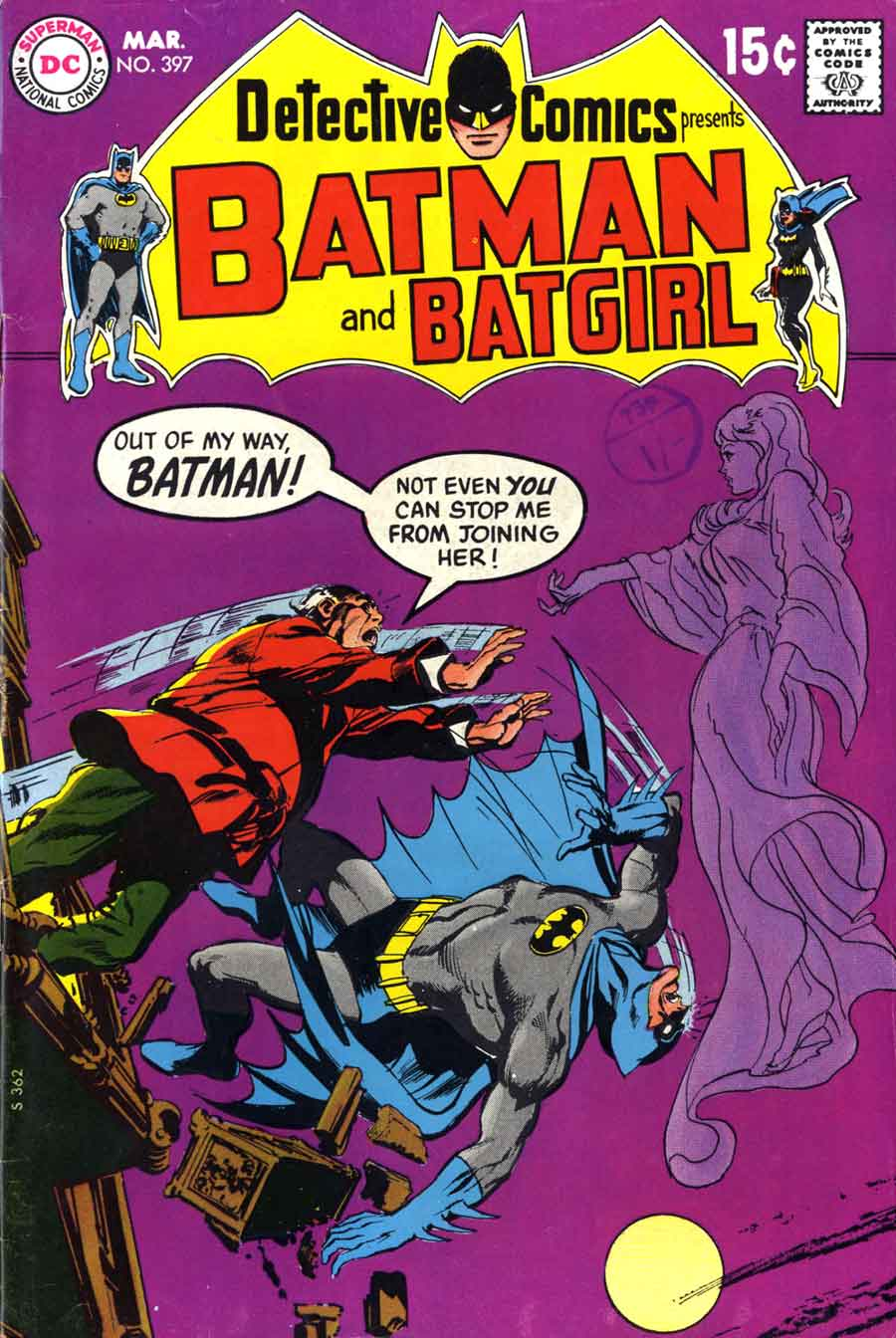 Detective Comics #397 dc Batman comic book cover art by Neal Adams