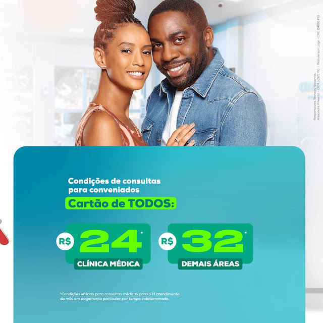 O Cartão de Todos é o maior cartão de Descontos na área da Saúde do Brasil