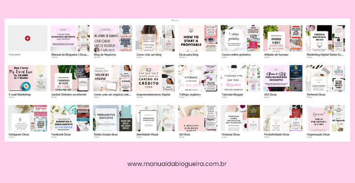 divulgar o blog no Pinterest