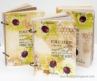 Layers of ink - Ladybug Notebooks step-by-step by Anna-Karin Evaldsson