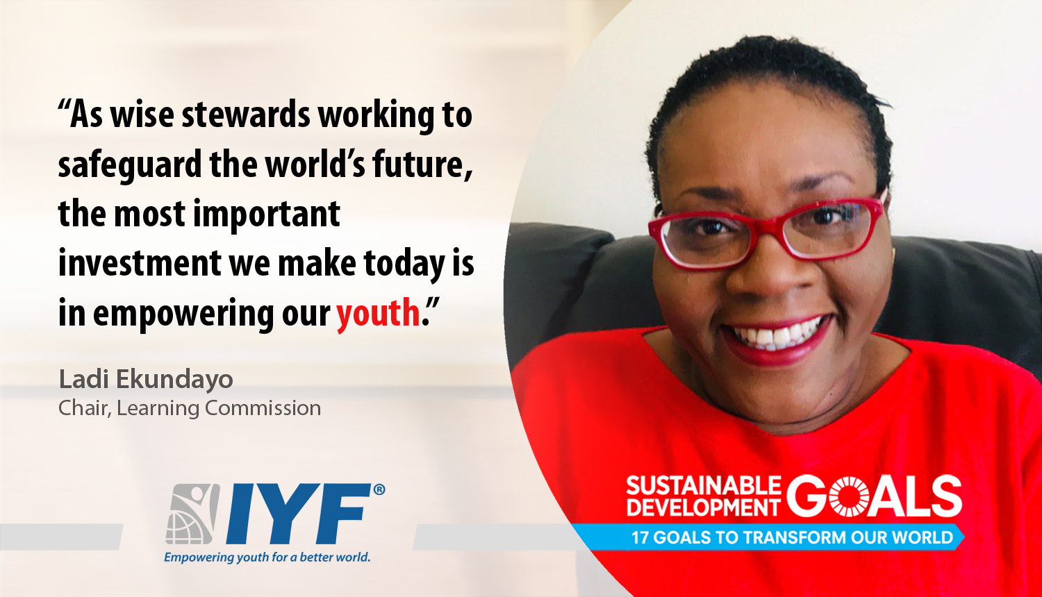 International Youth Federation Appoints Ladi Ekundayo as Chair of Learning Commission