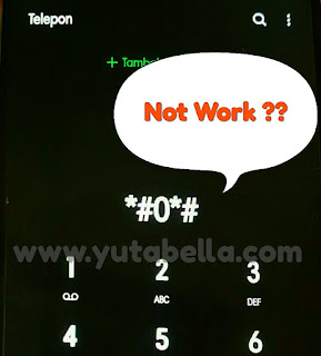 Samsung Code *#0*# not Work