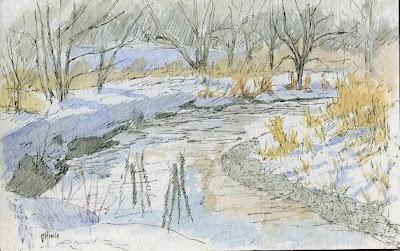 art sketch pen ink nature jordan river parkway