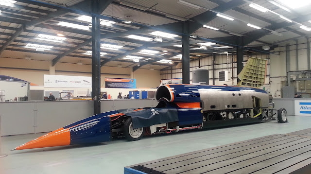 Bloodhound Supersonic Car in its Workshop