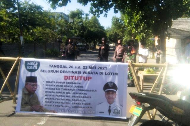 Laksanakan SE Bupati, Kapolsek tutup sementara Wisata Labuhan Haji