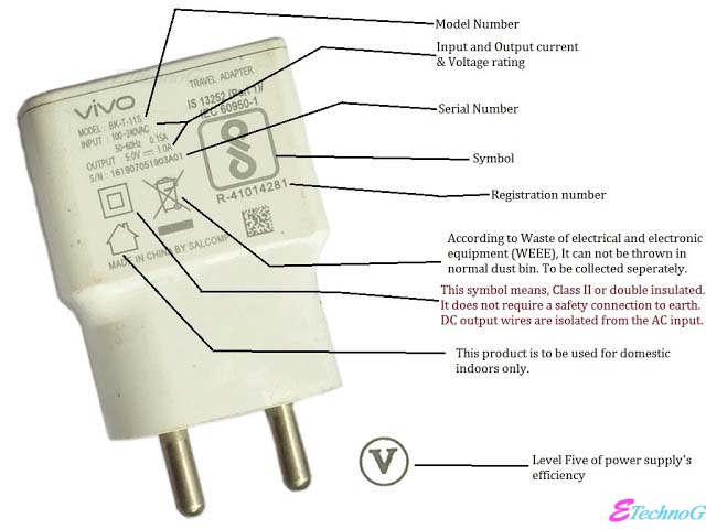 Symbols and Rating of Mobile charger. Meaning of symbols on mobile charger,symbols of mobile charger