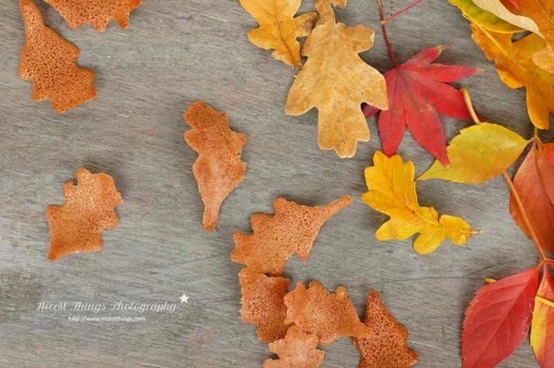 Herbstblätter Kekse herbstliche Blätter Deko für Cupcakes aus Tuileteig