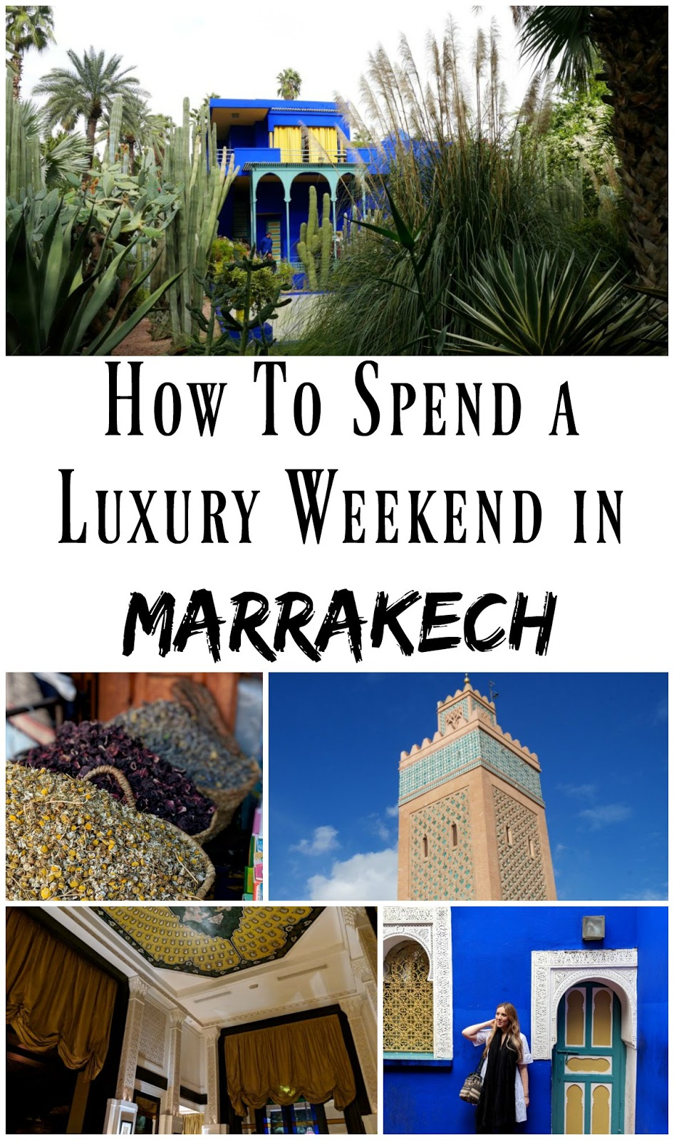 Luxury in 48 Hours: Marrakech, Morocco. Marrakech is the perfect African city break for those who live in Europe. It's a short flight from most European cities but offers a wealth of culture and things to do. The souks make for a very fun shopping experience, and the Jardin Majorelle is unmissable!