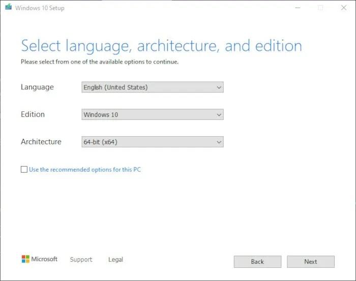 قم بتثبيت Windows 10 2021 الخطوة 3