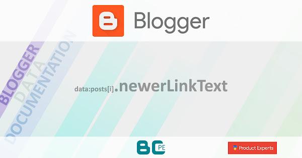 Blogger - Gadget Blog - data:posts[i].newerLinkText