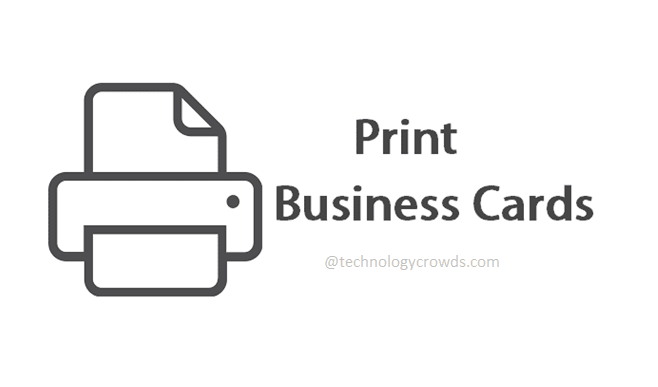 How to Print Outlook Contacts as Business Cards?