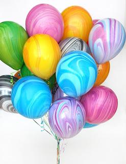 Мрамоорные воздушные шарики