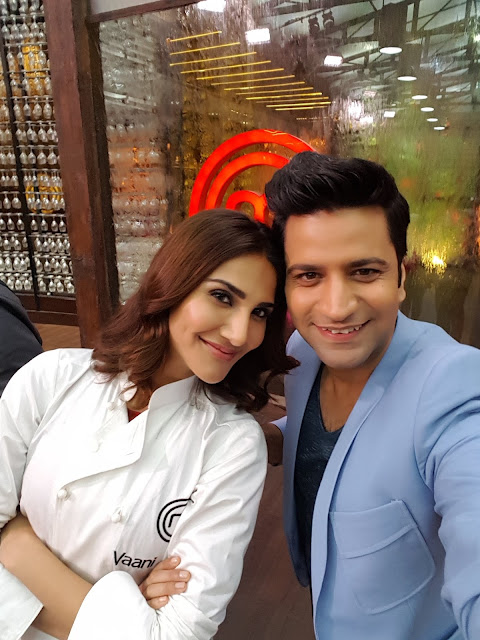 Vaani Kapoor with Chef Kunal Kapur-