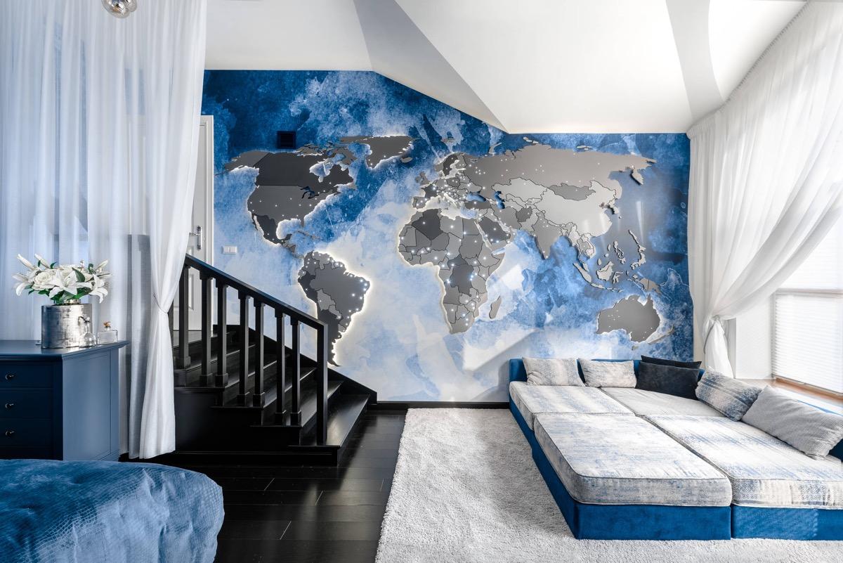Kết quả hình ảnh cho nội thất màu xanh
