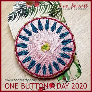 One Button a Day 2020 by Gina Barrett - Day 96: Windswept
