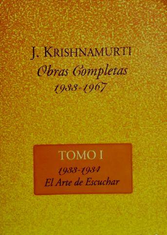 Obras Completas (6 Tomos) de Krishnamurti