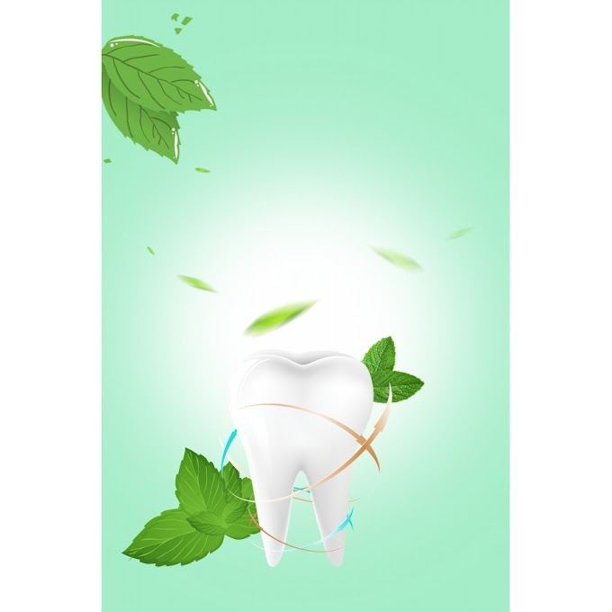 Protective teeth poster Dental background material PSD